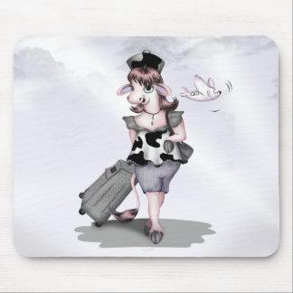 COW TRAVEL CARTOON  Mousepad