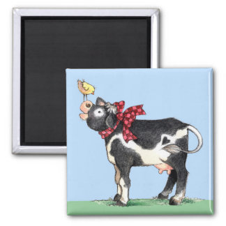 Cow with Bow - Magnet