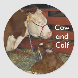 Cow with Calf Sticker