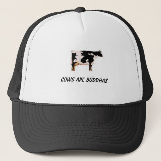 cow-zoom, cows are buddhas trucker hat