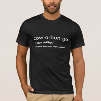 Cowabunga dictionary word t-shirt-design funny T-Shirt