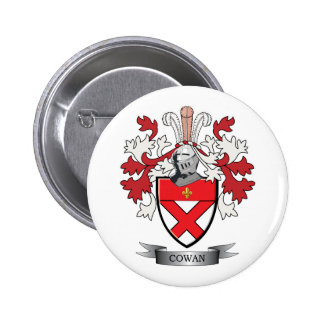 Cowan Family Crest Coat of Arms 2 Inch Round Button