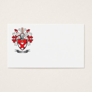 Cowan Family Crest Coat of Arms Business Card