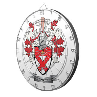 Cowan Family Crest Coat of Arms Dartboard