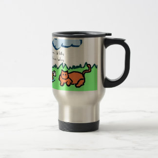 cowandcat, fat cow vs. fat kitty winner takes t... travel mug