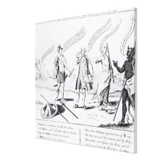 Cowardice Rewarded or the Devil will have his Canvas Print