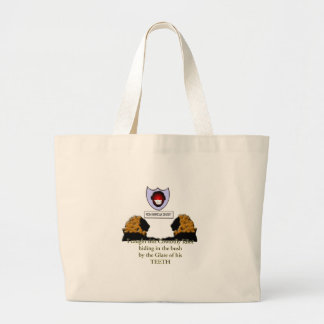 cowardly american dentist large tote bag