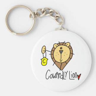 Cowardly Lion Basic Round Button Keychain