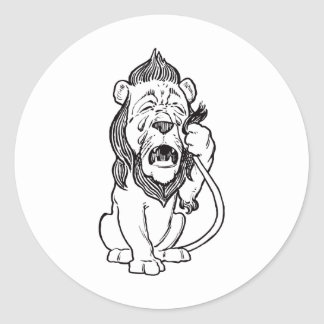 Cowardly Lion Classic Round Sticker