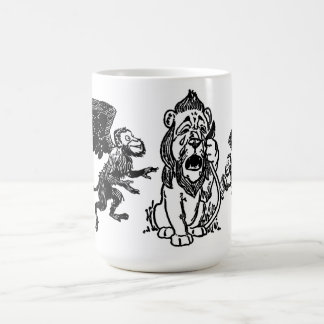 Cowardly Lion, Winged Flying Monkeys Wizard of Oz Coffee Mug