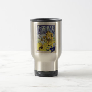 Cowardly Lion Wizard of Oz Book Page Travel Mug