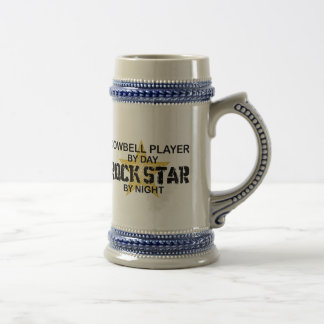 Cowbell Player Rock Star by Night Beer Stein