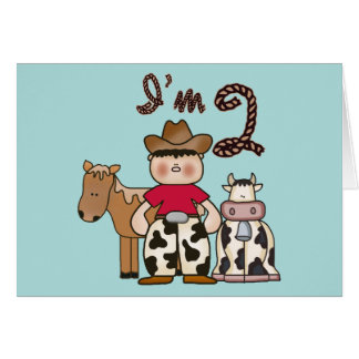 Cowboy  2nd Birthday Invitations Greeting Cards
