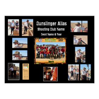 Cowboy Action Shooting Event Custom Posters
