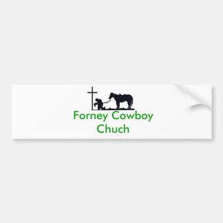 cowboy_and_cross, Forney Cowboy Chuch Bumper Sticker