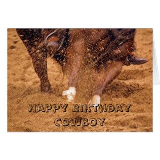 Cowboy and Horse Birthday Card