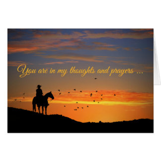 Cowboy and Horse County Western Sympathy Card