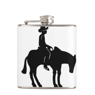 Cowboy and Horse Flask! Hip Flask