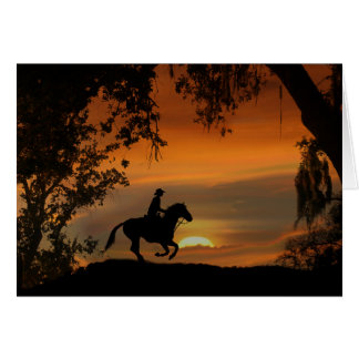 Cowboy and Horse Happy Trails Retirement Card
