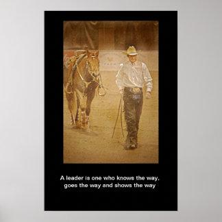 Cowboy And Horse Leadership Motivational Print