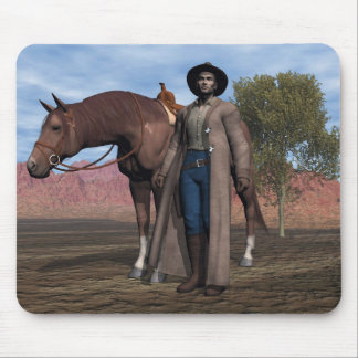 Cowboy and Horse Mousepad
