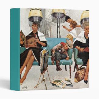 Cowboy Asleep in Beauty Salon Vinyl Binder