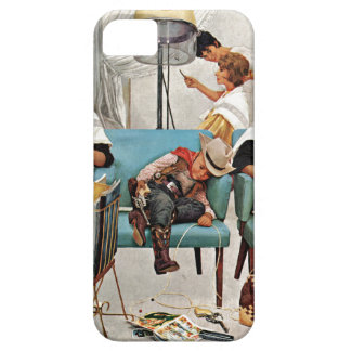Cowboy Asleep in Beauty Salon Case For The iPhone 5
