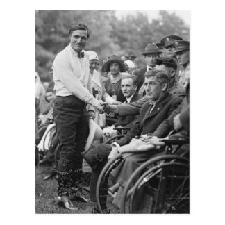 Cowboy at the White House, 1925 Postcard