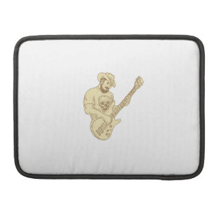 Cowboy Bass Guitar Isolated Drawing Sleeve For MacBook Pro