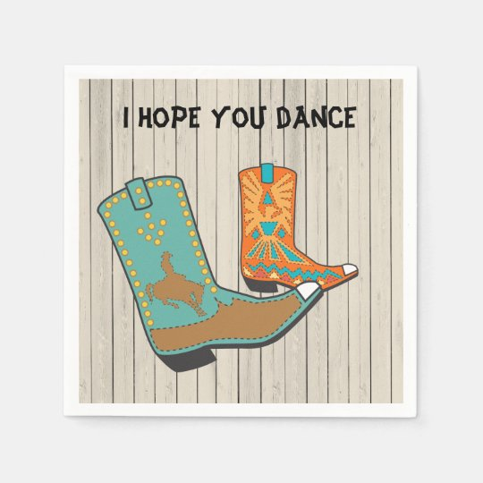 Cowboy BBQ and Square Dance special order Paper Napkins