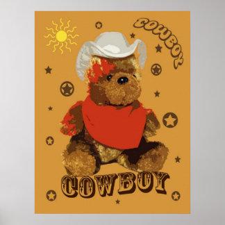 Cowboy Bear Poster