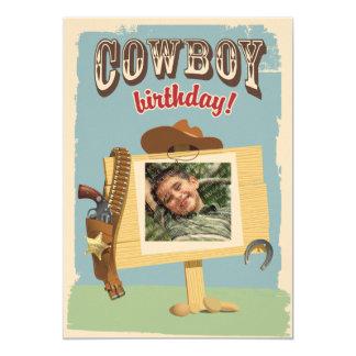 """Cowboy Birthday 5"""" X 7"""" Invitation Card"""
