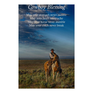Cowboy Blessing Poster