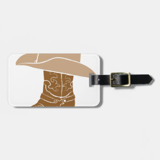 Cowboy Boot And Hat Luggage Tag