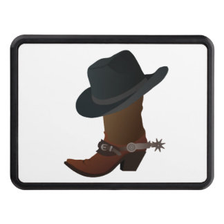 Cowboy Boot and Hat Trailer Hitch Cover