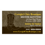 Cowboy Boot Business Card