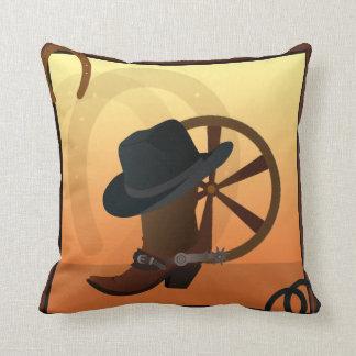 Cowboy Boot Design Pillow