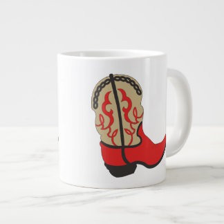 Cowboy Boot in Red Large Coffee Mug