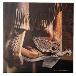 Cowboy boot tile