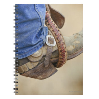 Cowboy boot with spur 2 notebook