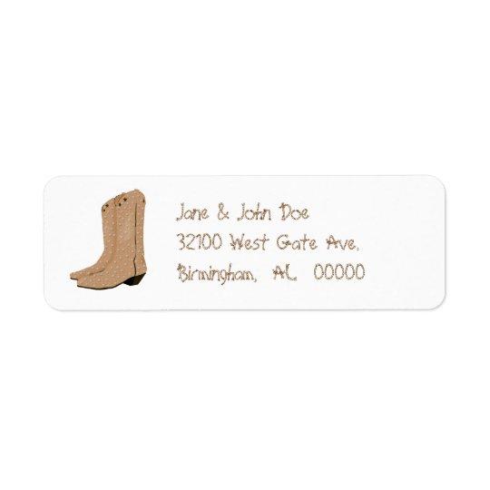 Cowboy Boots Address Labels