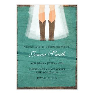 Cowboy boots Bridal Shower invitation