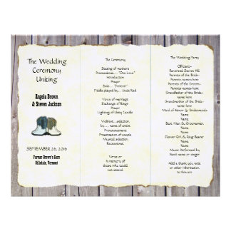 Cowboy Boots Country Wedding Program Template
