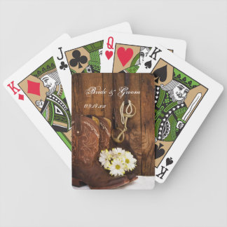 Cowboy Boots, Daisies, Horse Bit Country Wedding Poker Deck