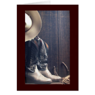 Cowboy Boots & Hat   Greeting Card