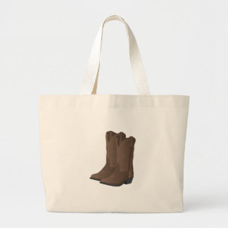 Cowboy Boots Large Tote Bag