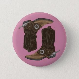 Cowboy Boots Pattern 2 Inch Round Button