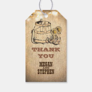 Cowboy Boots Rustic Country Wedding Gift Tags