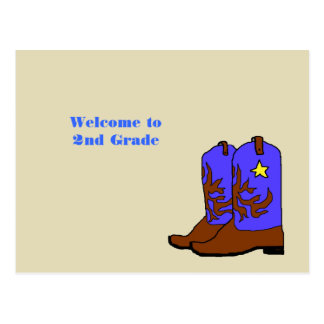 Cowboy Boots Teacher Welcome to Class Postcards