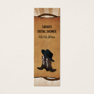 cowboy boots western Personalized Gift Tags Mini Business Card